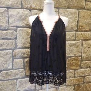 Black Crochet Joie Halter Top